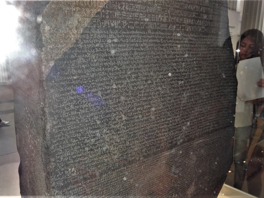stone covered in writing