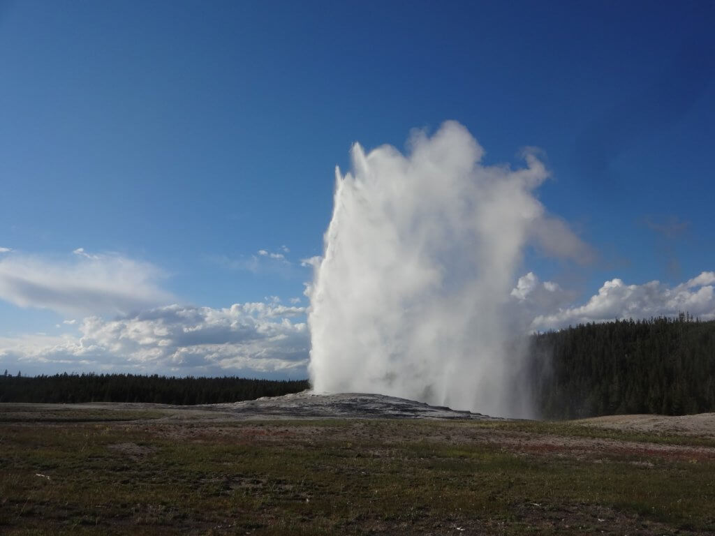 Geyser shooting into the sky