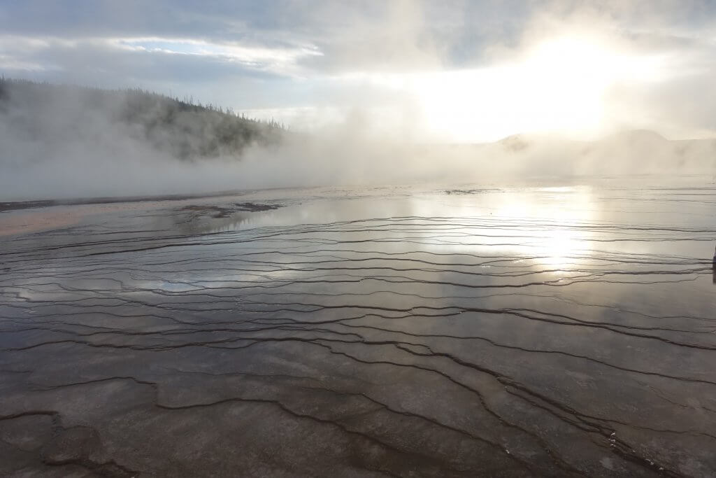 thermal water and steam