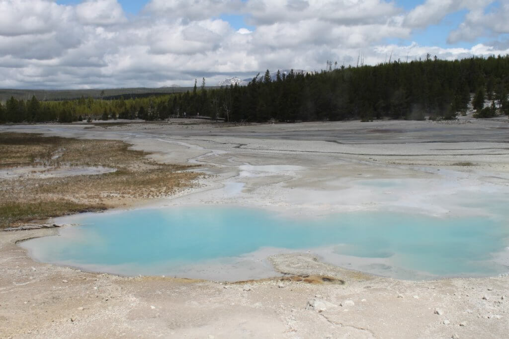 blue water thermal pool
