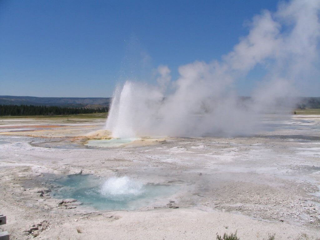 geyser and hotsprings