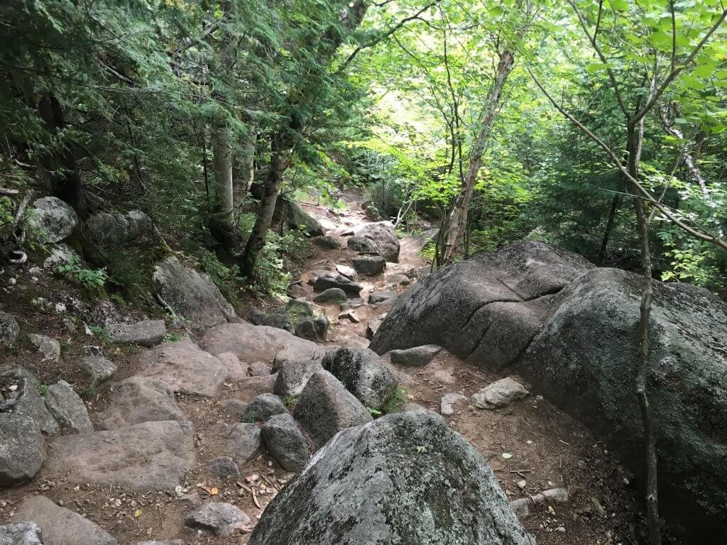 rocky hiking path