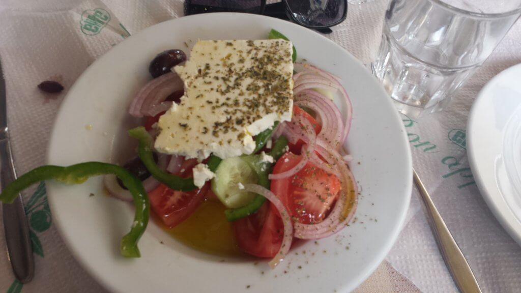 plate of vegetables and cheese