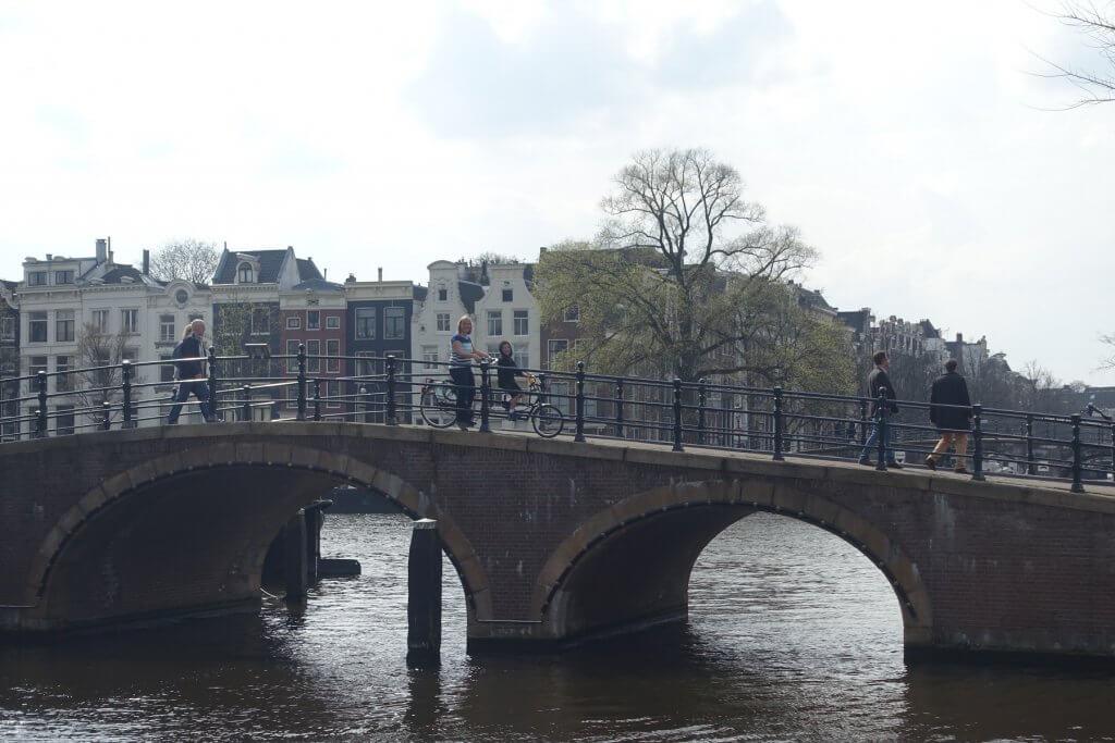 people on a bridge