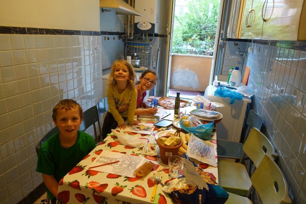 kids at kitchen table