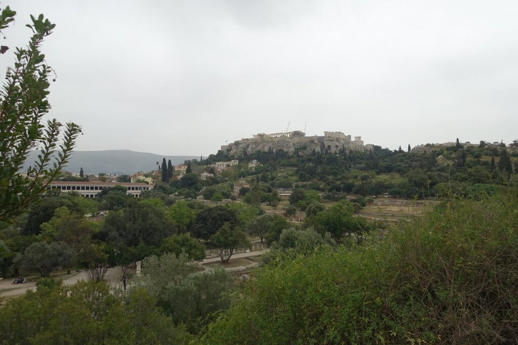 ancient buildings on a hill