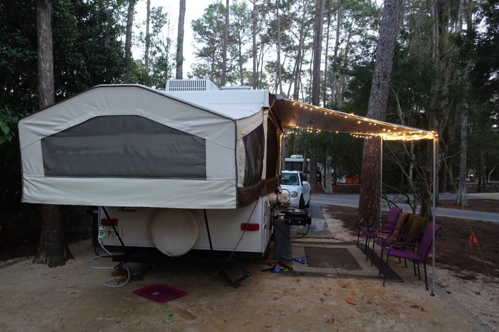camper trailer with lights