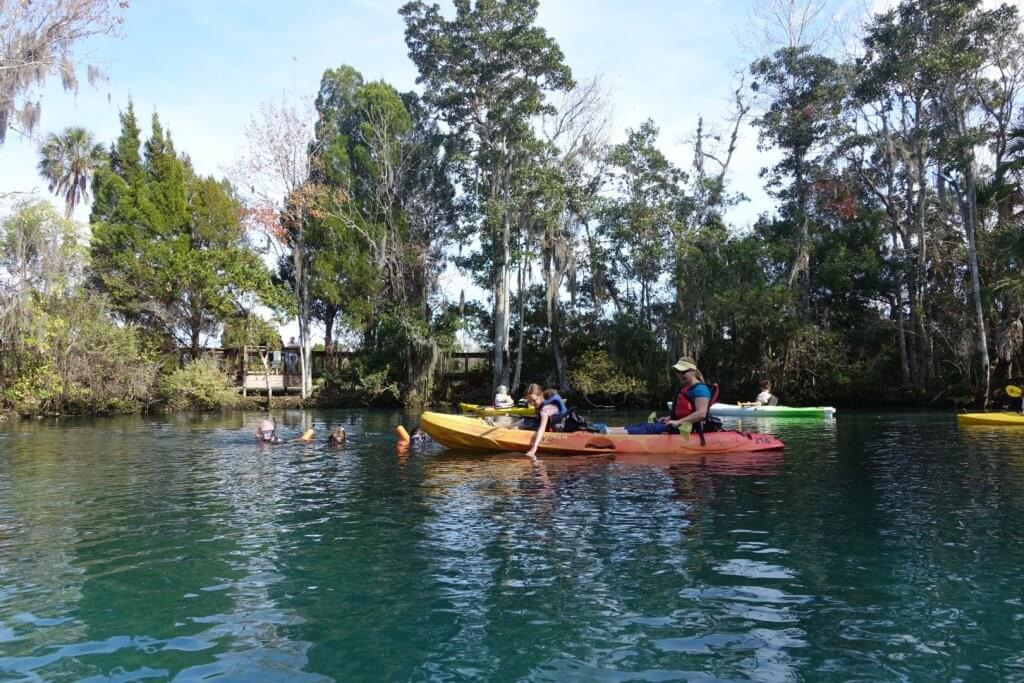 mom and daughter on kayak