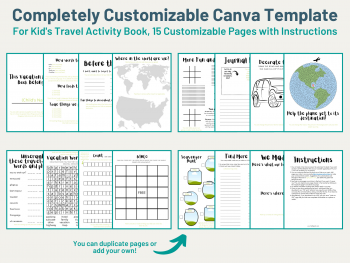 canva template pages