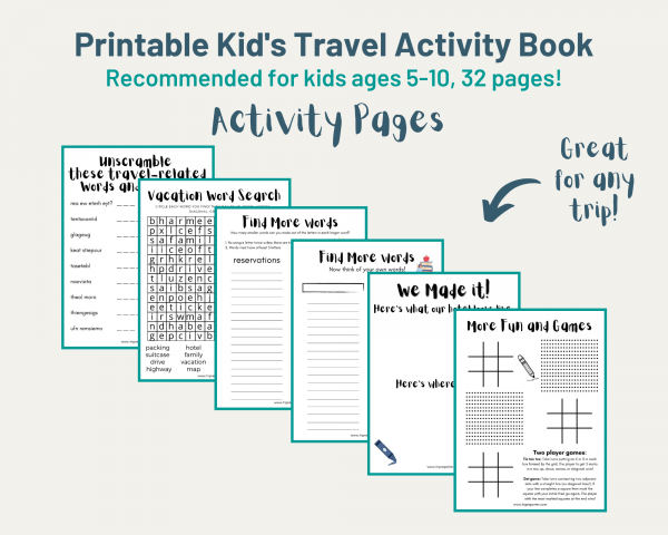 activity book pages