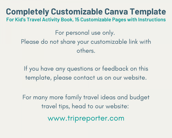 instructions for canva template
