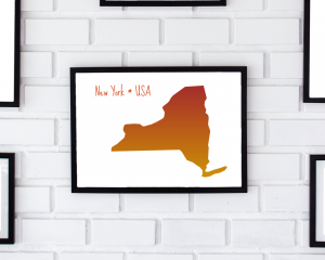 picture of NY in frame