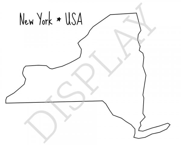 Drawing of New York State